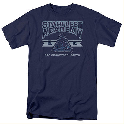 Star Trek Starfleet Academy Earth Blue T-Shirt