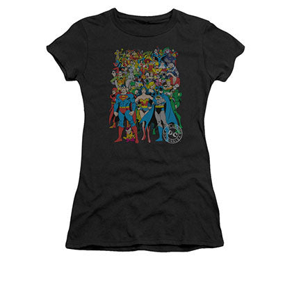 DC Comics Juniors Black Original Universe Black Tee Shirt