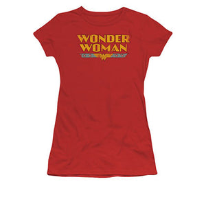 Wonder Woman Classic Logo Red Juniors T-Shirt
