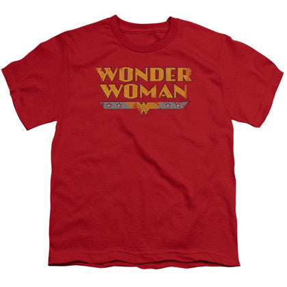 Wonder Woman Vintage Logo Youth Tshirt