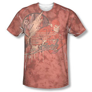 The Flash Charge Ahead Sublimation Red T-Shirt