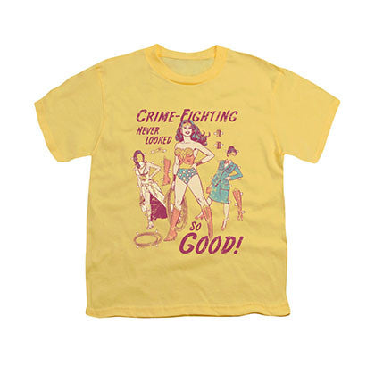 Wonder Woman Paper Doll Yellow Youth Unisex T-Shirt
