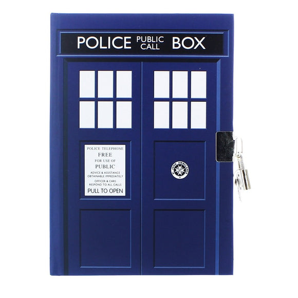 Doctor Who Tardis Notebook with Lock & Key