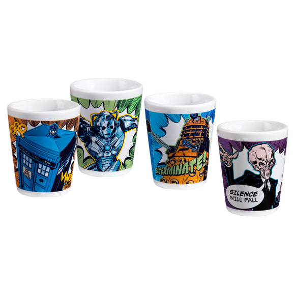 Doctor Who 4 pc. Ceramic Shot Glasses
