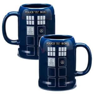 Doctor Who Tardis Ceramic Stein 20 oz.