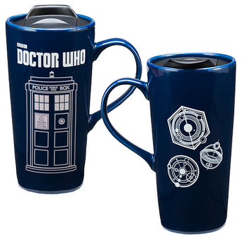 Doctor Who Disappearing TARDIS Mug- Ceramic Travel Mug 20 oz