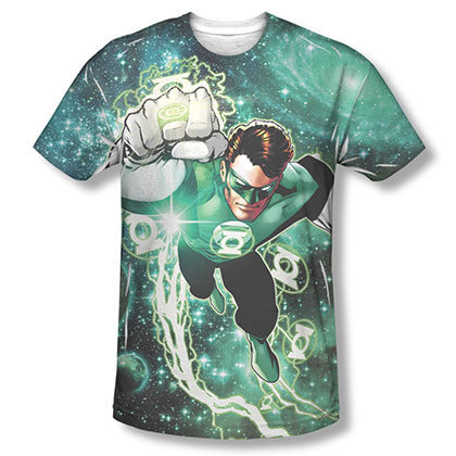 Green Lantern Galactic Hal Sublimation Green Tee Shirt