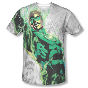 Green Lantern Light Em Up Sublimation White Tee Shirt