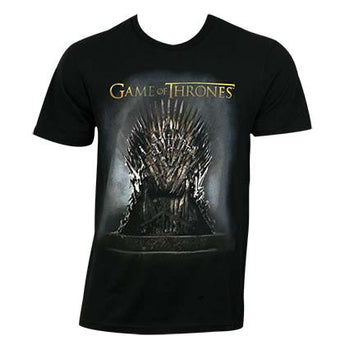 Game Of Thrones Black Men's Throne Tee Shirt
