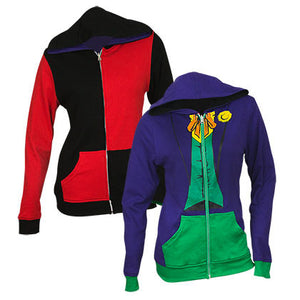 The Joker and Harley Quinn Reversible Women's Hoodie