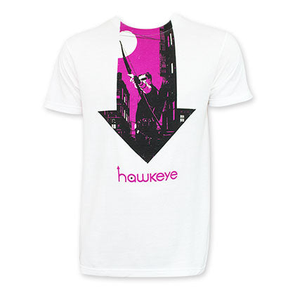 Hawkeye Men's White Arrow Tee Shirt