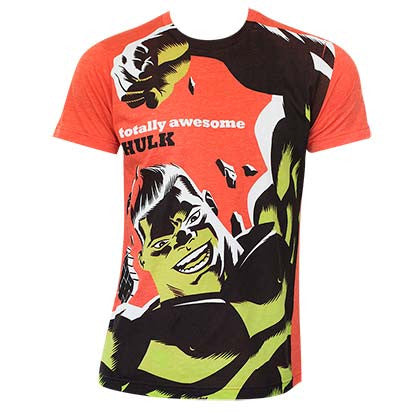 Men's Cotton Blend Hulk Michael Cho Orange T-Shirt