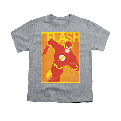 The Flash Poster Gray Youth Unisex T-Shirt