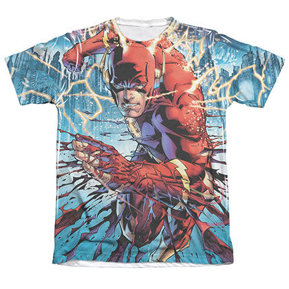 The Flash Ripping And Tearing Sublimation White T-Shirt