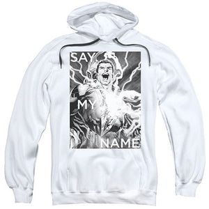 Justice League Shazam Say My Name White Pullover Hoodie