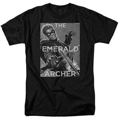 Green Arrow Emerald Archer Black T-Shirt