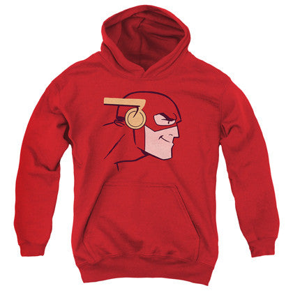The Flash Cartoon Head Youth Hoodie