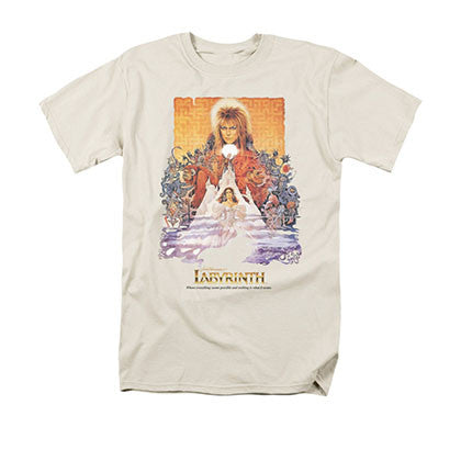 Labyrinth Movie Poster Cream T-Shirt