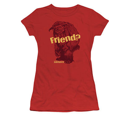 Labyrinth Ludo Friend Red Juniors T-Shirt