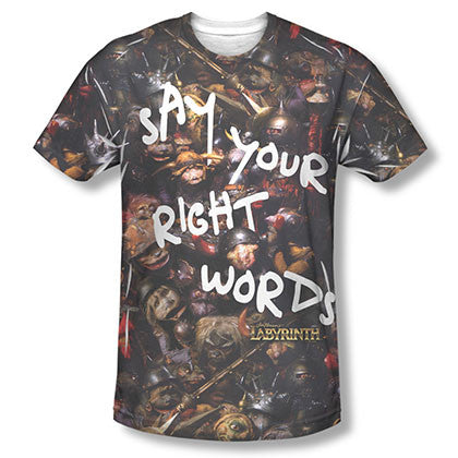 Labyrinth Say Your Right Words Sublimation T-Shirt