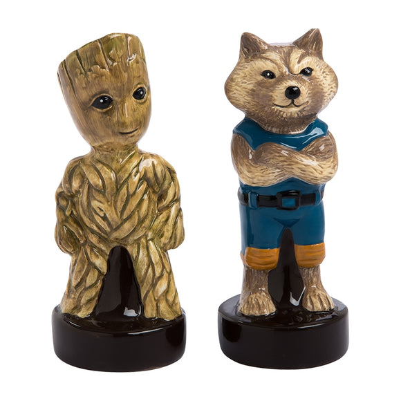 Marvel Guardians of the Galaxy Vol. 2 Little Groot & Rocket Sculpted Salt & Pepper Shaker Set