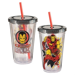 Marvel Iron Man Acrylic Travel Cup 18 oz.