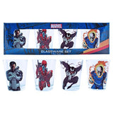 Marvel Villains- Mini Glass 4 Pack
