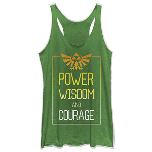 Nintendo Power Zelda Green Tank Top