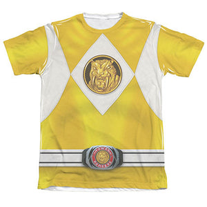 Power Rangers Emblem Costume Yellow Sublimation T-Shirt