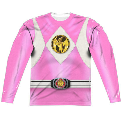 Power Rangers Pink Ranger Long Sleeve Costume Tee