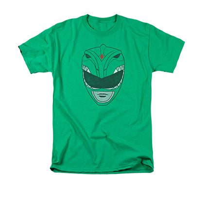 Power Rangers Green Helmet T-Shirt