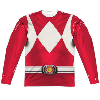 Power Rangers Red Ranger Long Sleeve Costume Tee