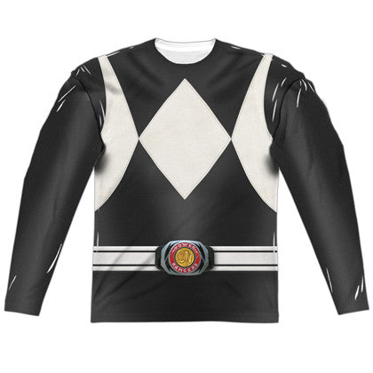 Power Rangers Black Ranger Long Sleeve Costume Tee