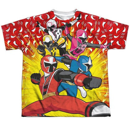 Power Rangers Ninja Steel Lineup Youth Tshirt