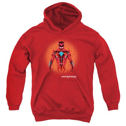 Power Rangers The Movie Red Ranger Red Youth Hoodie