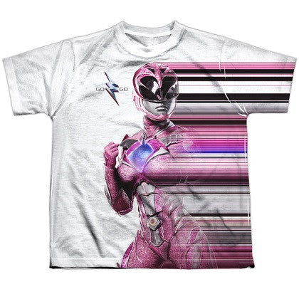 Power Rangers The Movie Pink Streak Youth Tshirt