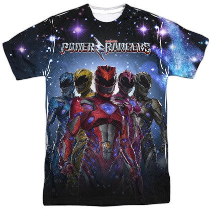 Power Rangers Movie Poster Tshirt