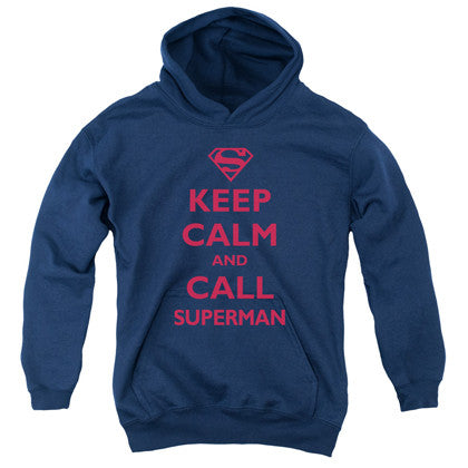 Superman Keep Calm Youth Hoodie