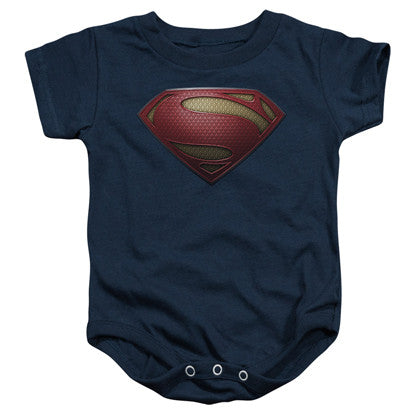 Superman Man Of Steel Baby Onesie