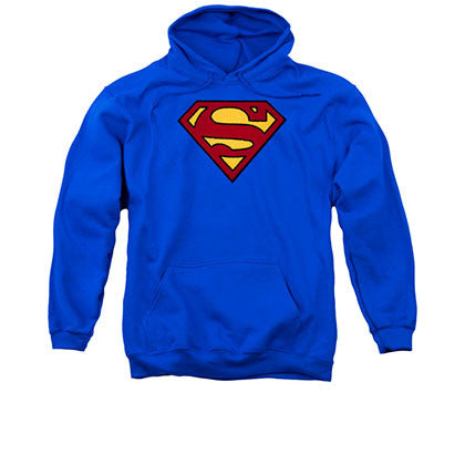 Superman Embroidered Pullover Hoodie