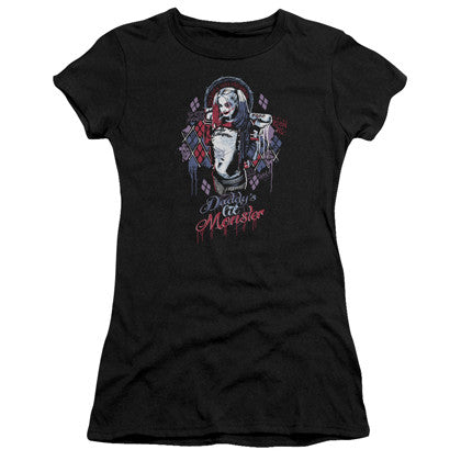 Suicide Squad Harley Quinn Daddy's Lil Monster Women's Black Shirt