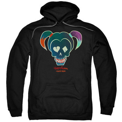 Suicide Squad Harley Quinn Skull Adult Hoodie