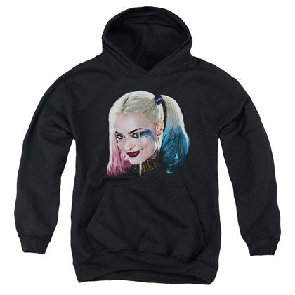 Suicide Squad Harley Quinn Face Youth Hoodie