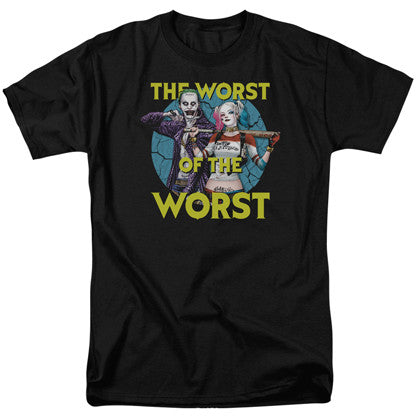 Suicide Squad The Joker and Harley Quinn Worst Of The Worst Men's Black Tshirt