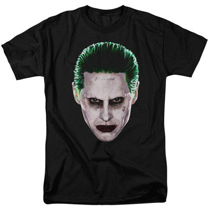 Suicide Squad The Joker Portrait Men's Black Tshirt