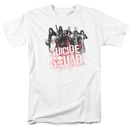 Suicide Squad The Squad Men's White Tshirt