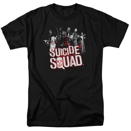 Suicide Squad The Squad Men's Black Tshirt
