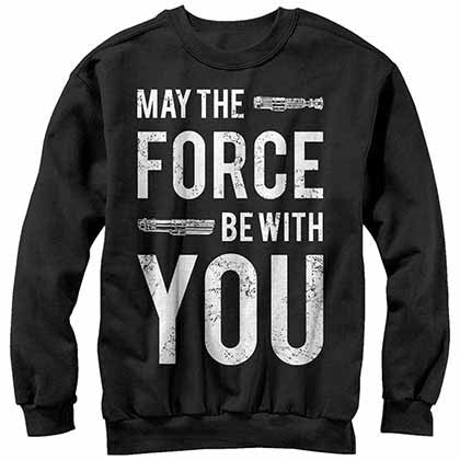 Star Wars With U- Crew Fleece Black Sweatshirt