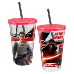 Star Wars Rey & Kylo Acrylic Travel Cup 18 oz.