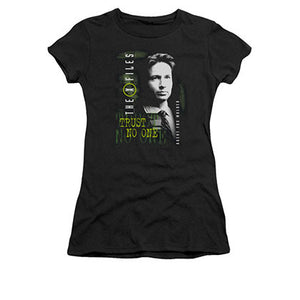X-Files Mulder Black Juniors Tee Shirt